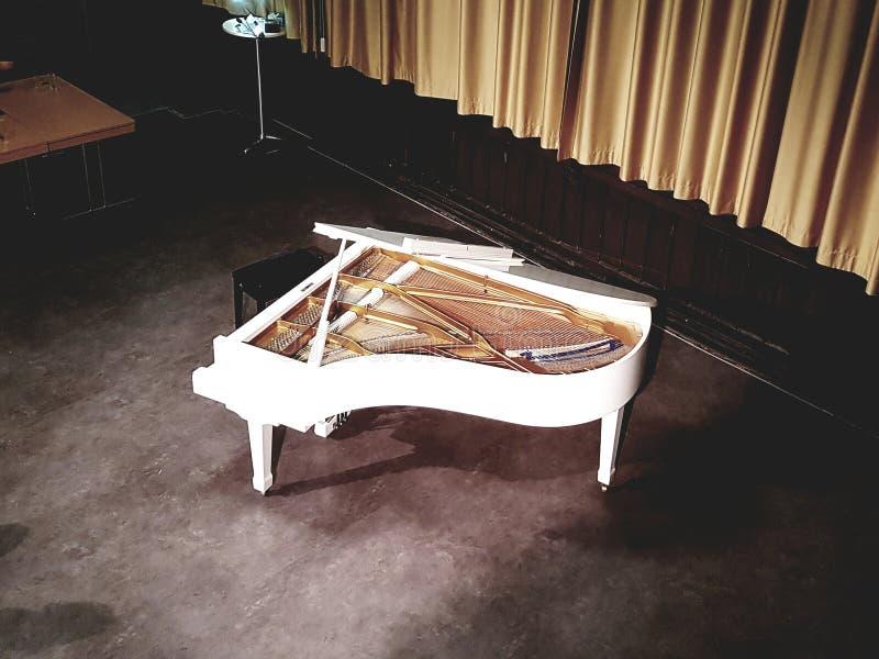 Piano alone stock photo
