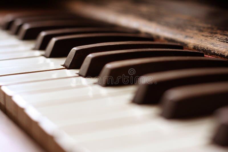 Piano antique image stock