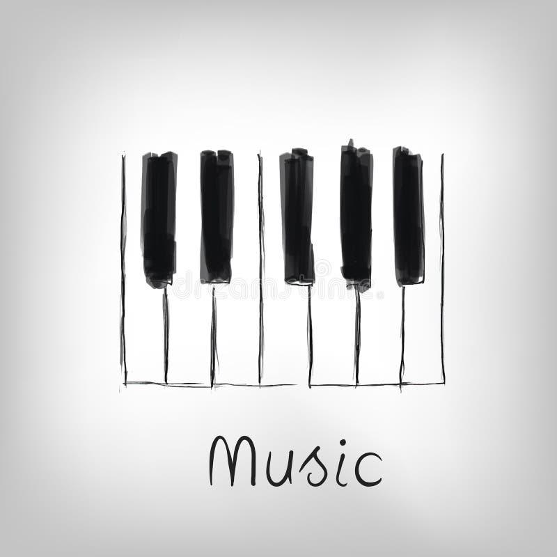 Piano art stock illustration illustration of black grand for Art made with keys