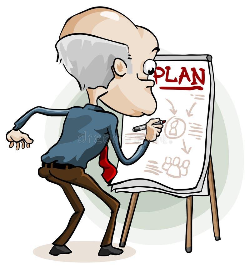 Piano aziendale illustrazione vettoriale