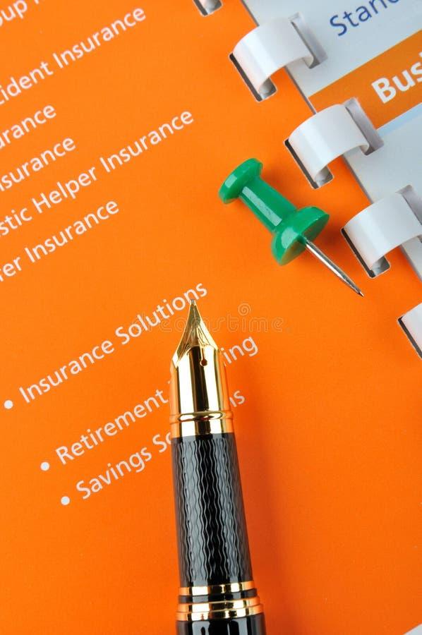Piano aziendale di assicurazione fotografia stock