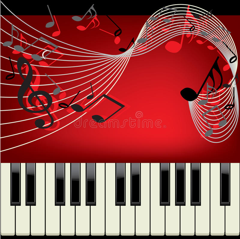 Piano background stock illustration