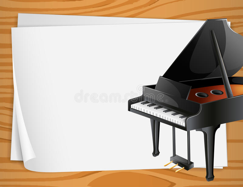 Download Piano Banner stock vector. Illustration of piano, paper - 43387949