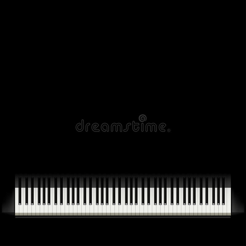 Piano black background stock illustration