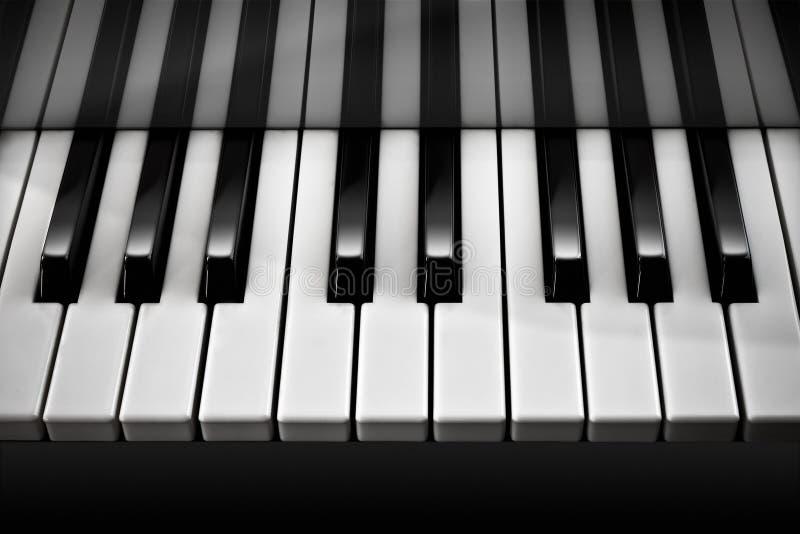 Piano / Black and White vector illustration