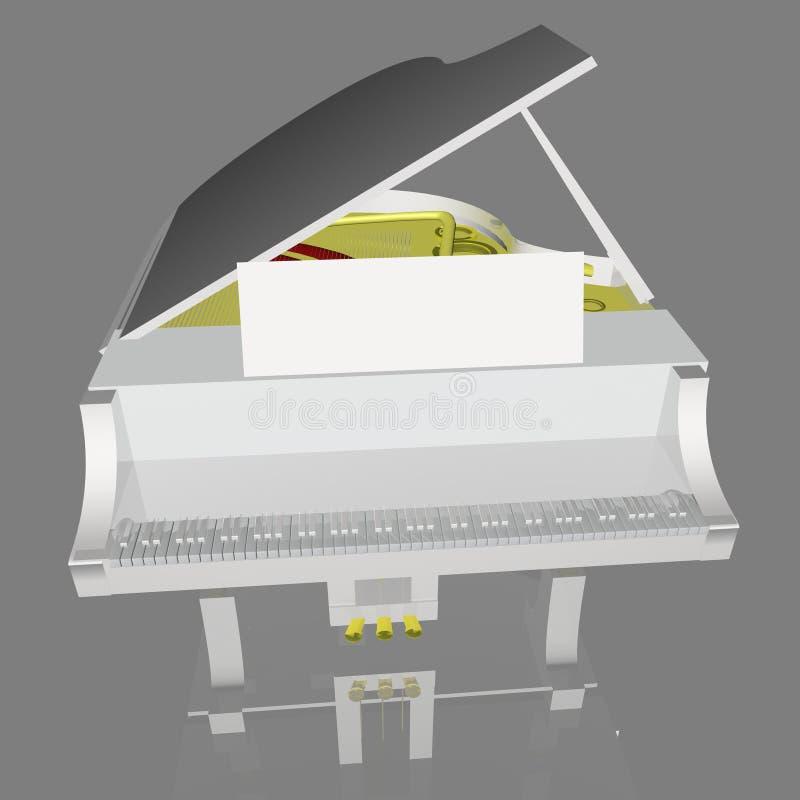 Piano blanco libre illustration