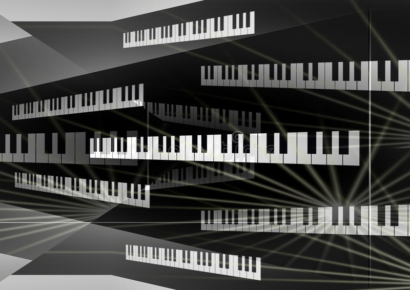 Piano board background royalty free stock photos
