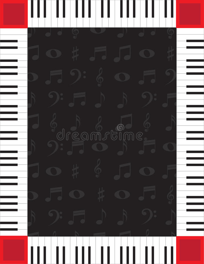 Piano Border stock illustration