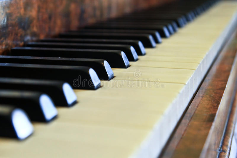 Piano buttons royalty free stock image