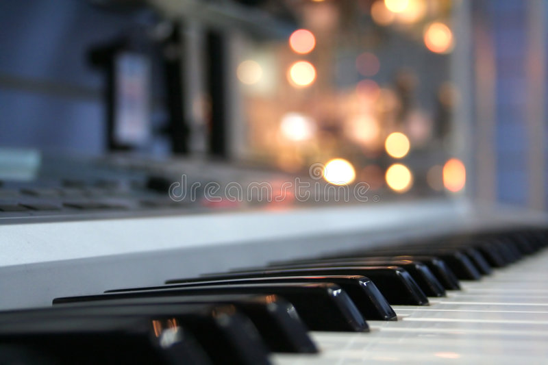 Piano buttons stock photo