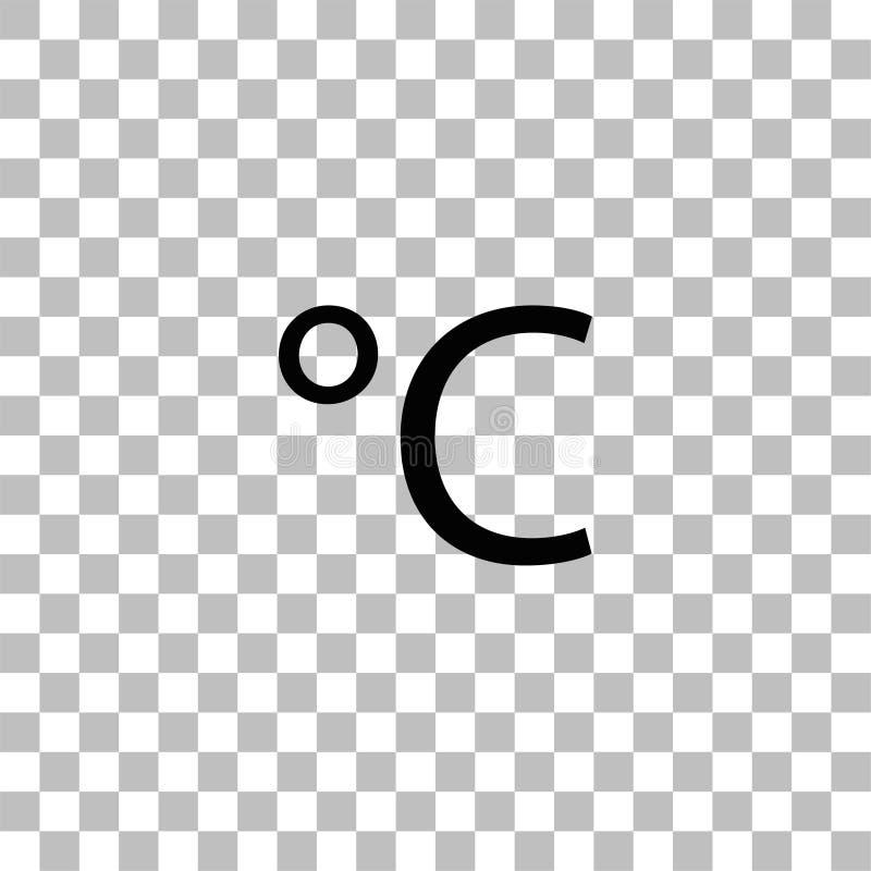 Piano centigrado dell'icona illustrazione di stock