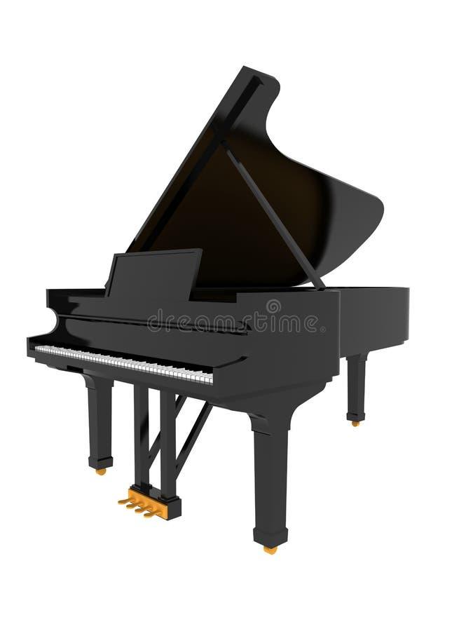 Piano clássico preto ilustração do vetor