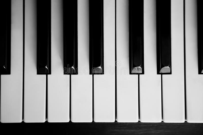Piano Close Up On The Keyboard Stock Photos