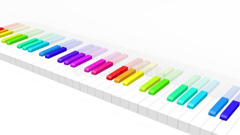 Piano Coloré Photos libres de droits