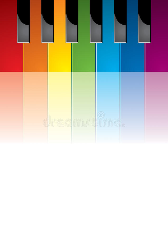 Download Piano coloured keys stock vector. Image of artwork, colourful - 17130289
