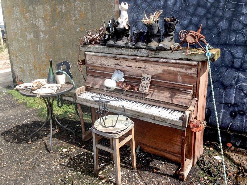 Piano de antaño, Hastings viejo fotos de archivo