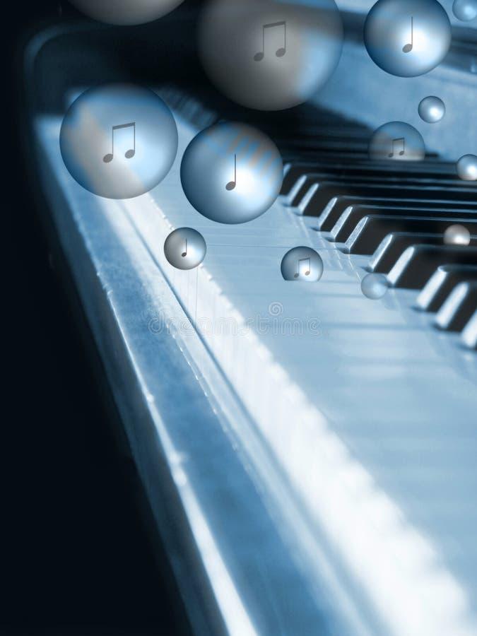 Piano de borbulhagem fotografia de stock royalty free