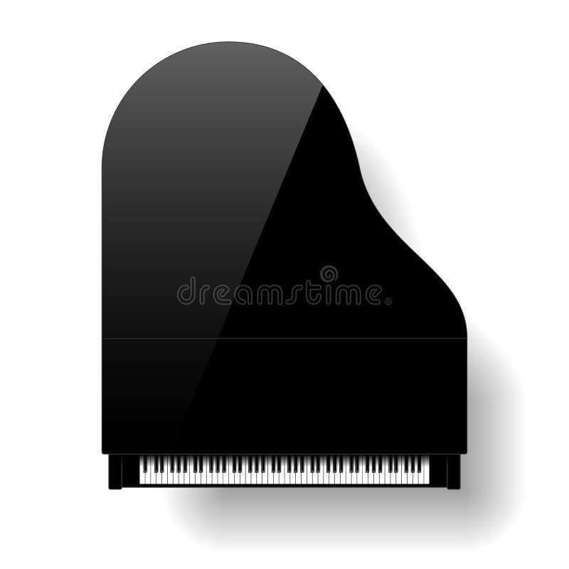 Piano de cauda preto ilustração stock