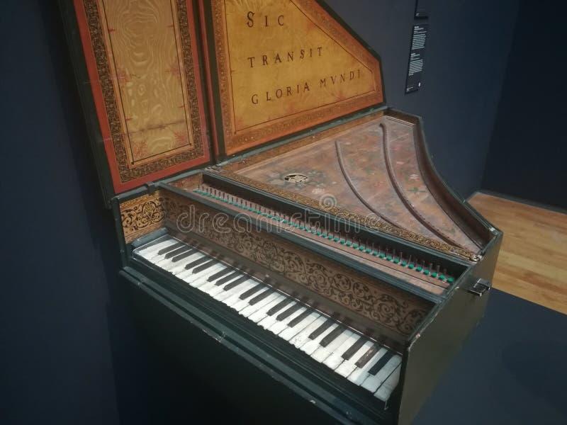 Piano del museo holandés imagen de archivo