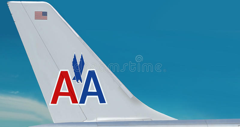 Piano dell'azienda del American Airlines. fotografia stock libera da diritti