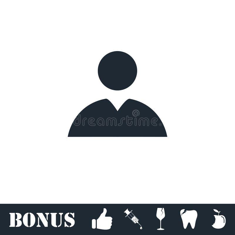 Piano dell'icona dell'avatar illustrazione vettoriale