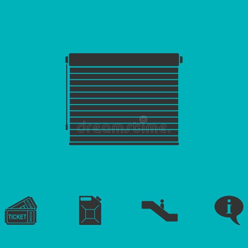 Piano dell'icona dei ciechi illustrazione di stock