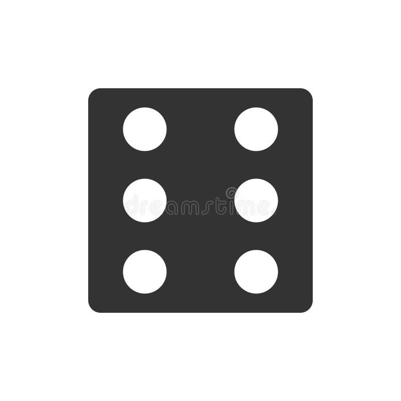 Piano dell'icona dei dadi illustrazione vettoriale