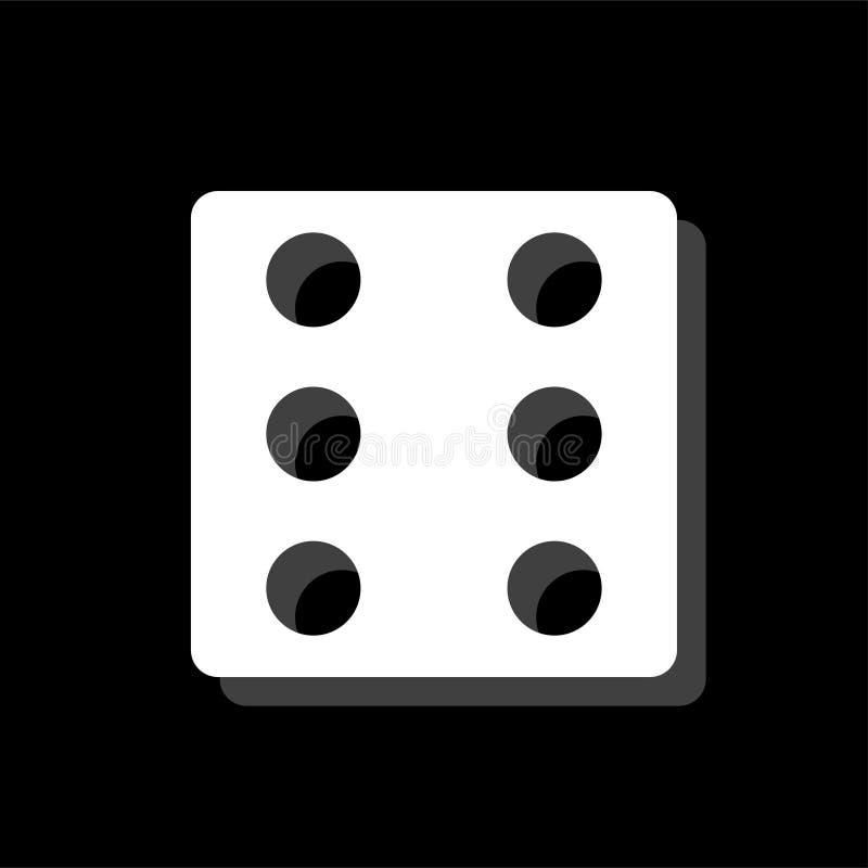 Piano dell'icona dei dadi illustrazione di stock