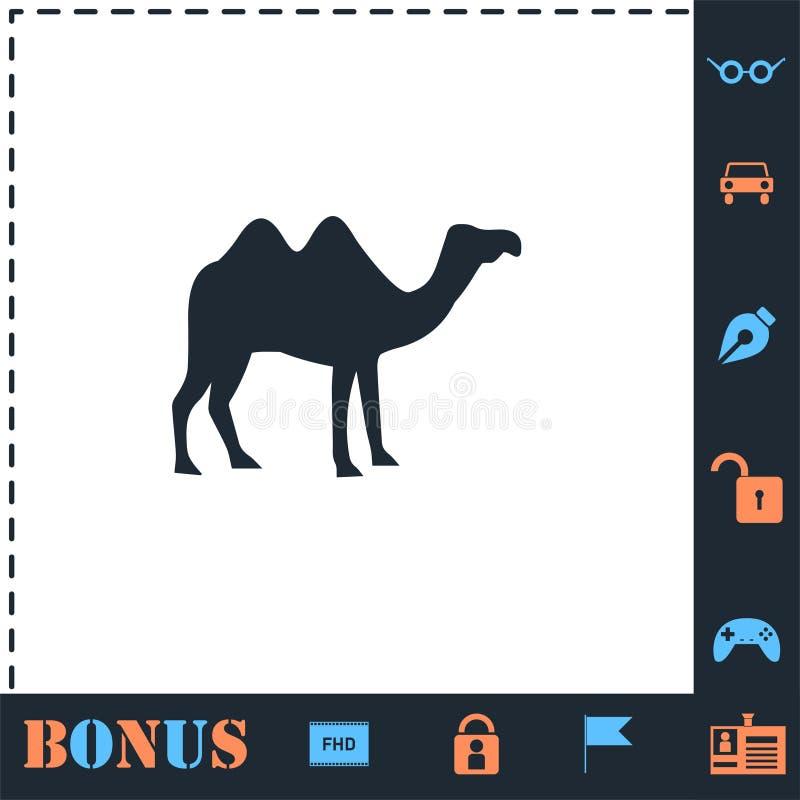 Piano dell'icona del cammello illustrazione di stock