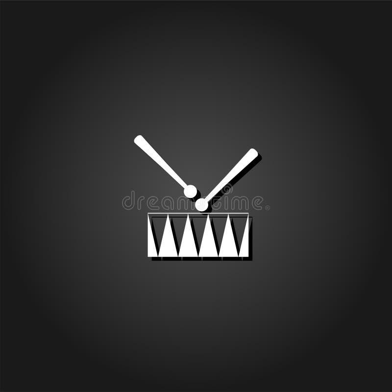 Piano dell'icona del rullante illustrazione vettoriale