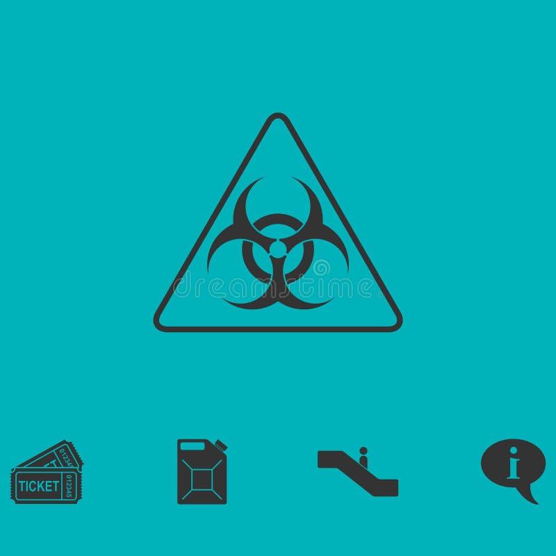 Piano dell'icona del virus illustrazione vettoriale
