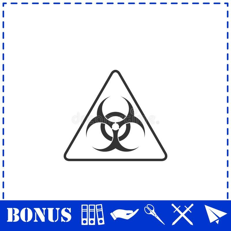 Piano dell'icona del virus illustrazione di stock