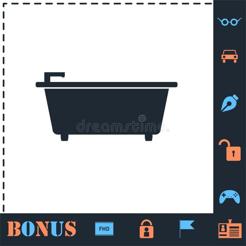Piano dell'icona della vasca illustrazione vettoriale