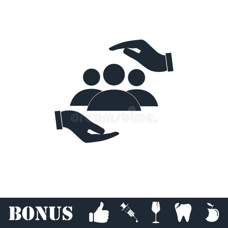 Piano dell'icona delle mani amiche royalty illustrazione gratis