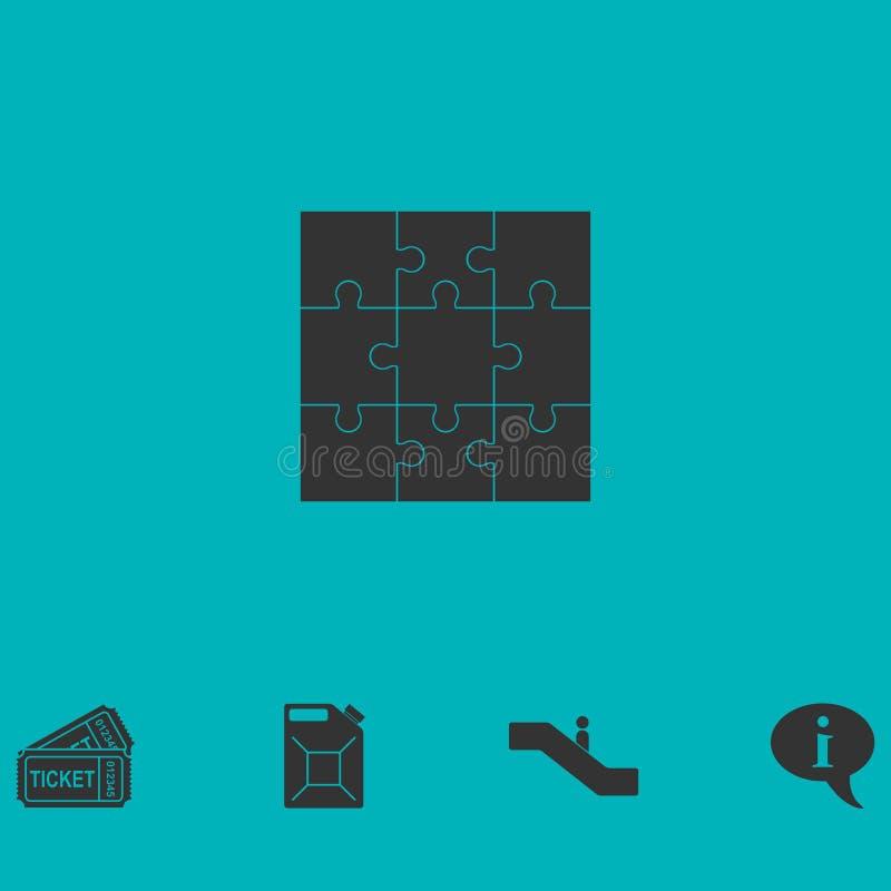 Piano dell'icona di puzzle royalty illustrazione gratis