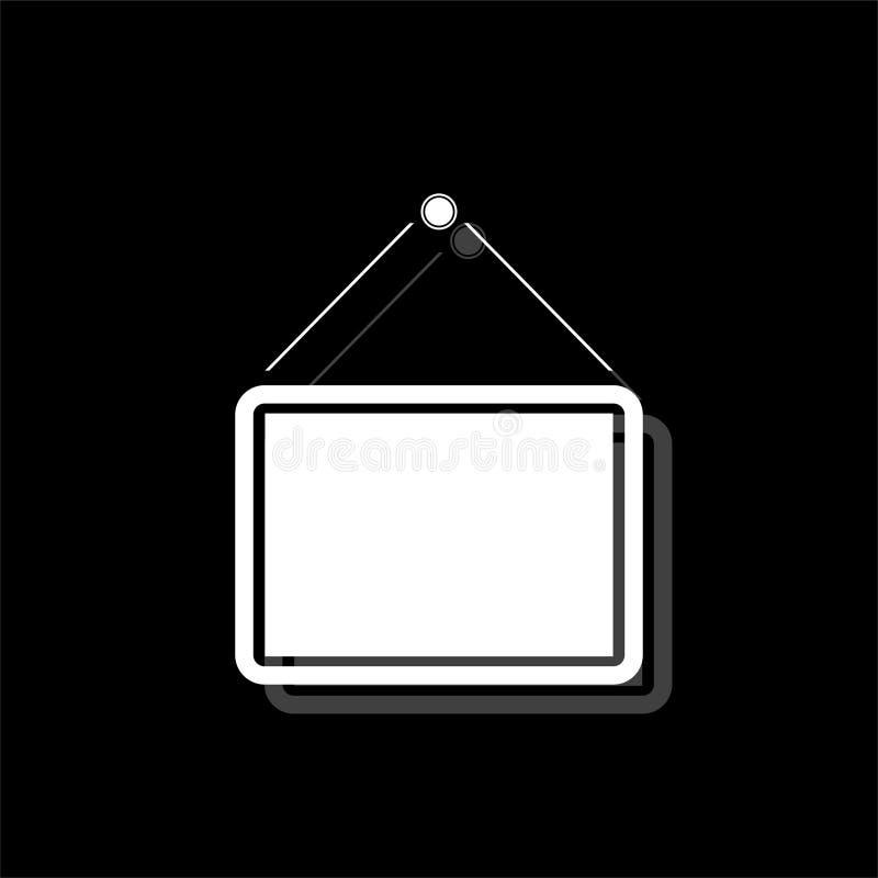 Piano dell'icona dell'insegna illustrazione vettoriale