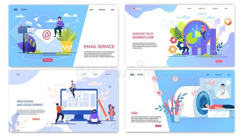 Piano dell'iscrizione di servizio di posta elettronica dell'iscrizione del manifesto illustrazione vettoriale