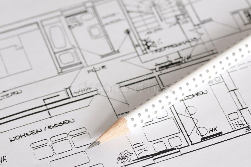 Piano della costruzione fotografia stock libera da diritti