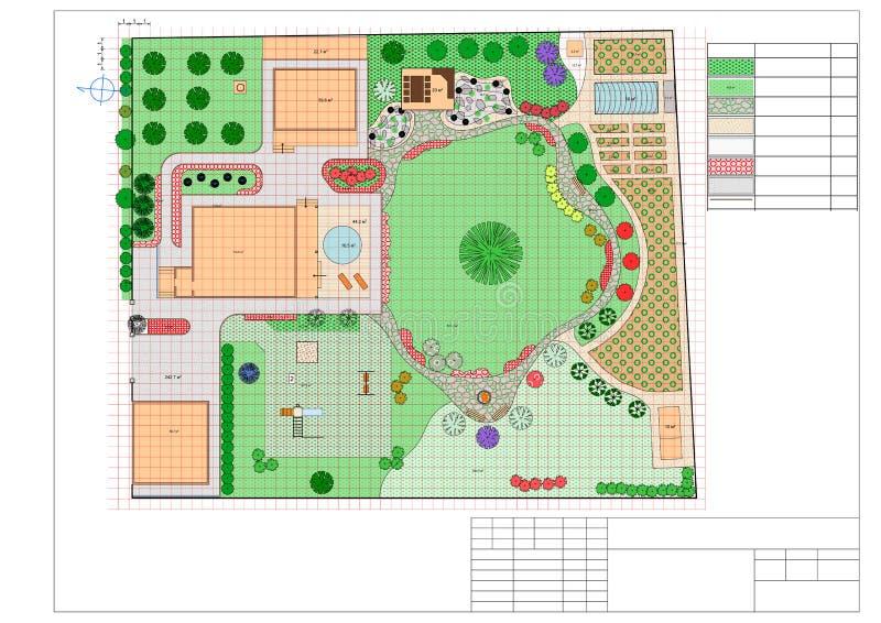 Piano della terra del giardino royalty illustrazione gratis