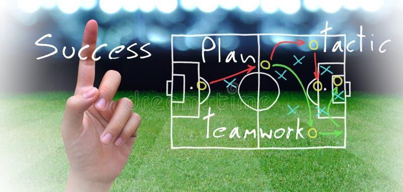 Piano di calcio fotografia stock libera da diritti