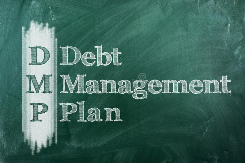 Piano di gestione di debito fotografia stock