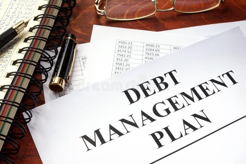 Piano di gestione DPM di debito fotografia stock