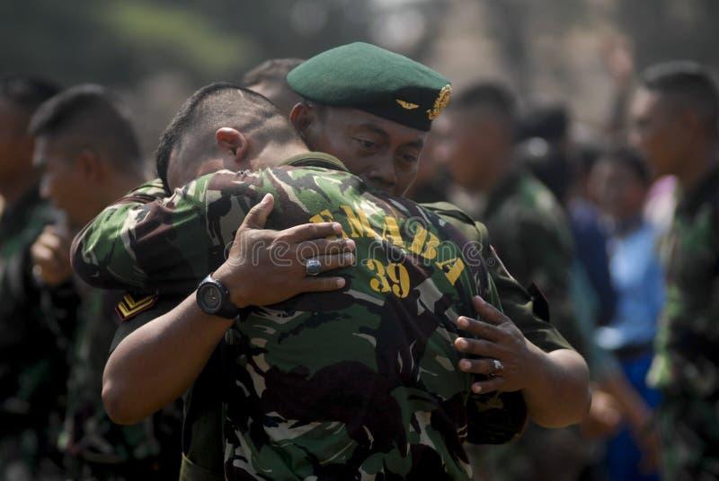 PIANO DI RISTRUTTURAZIONE MILITARE INDONESIANO DI TNI fotografia stock