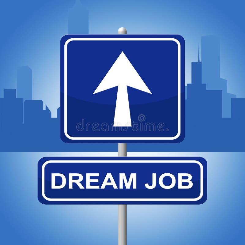 Piano di sogno di Job Means Signboard Daydreamer And illustrazione vettoriale