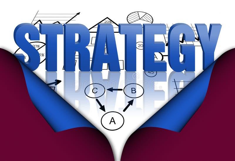 Piano di strategia illustrazione vettoriale