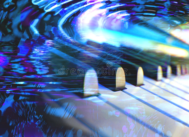 Piano dreams stock photography