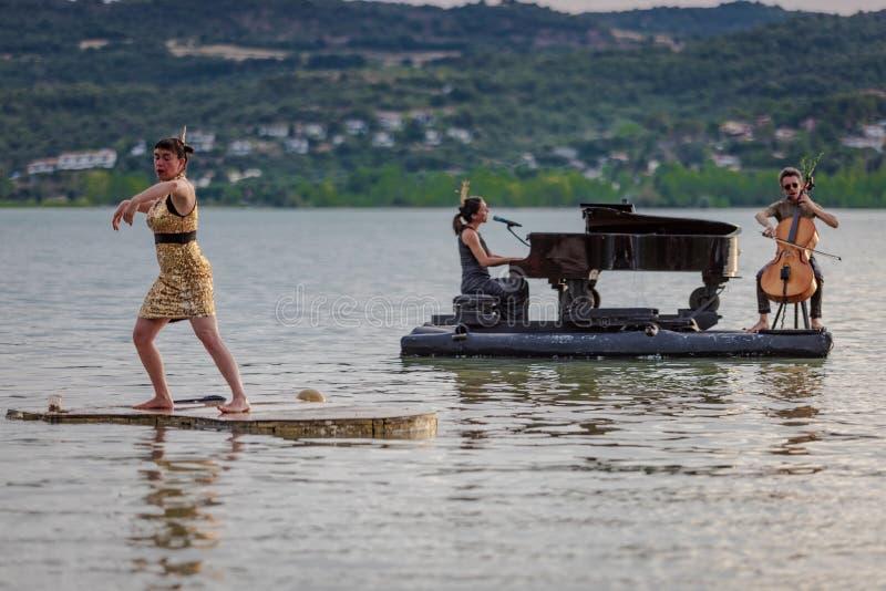 12/07/2019 piano du lac Barasona image libre de droits
