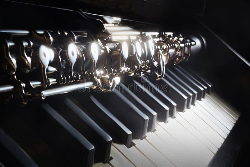 Piano e oboe dos instrumentos musicais fotos de stock royalty free