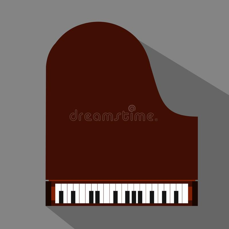 Piano flat icon. For web and mobile devices stock illustration