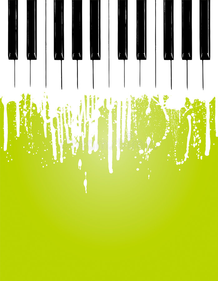 Piano flow. Grunge piano flowing... with copy space stock illustration